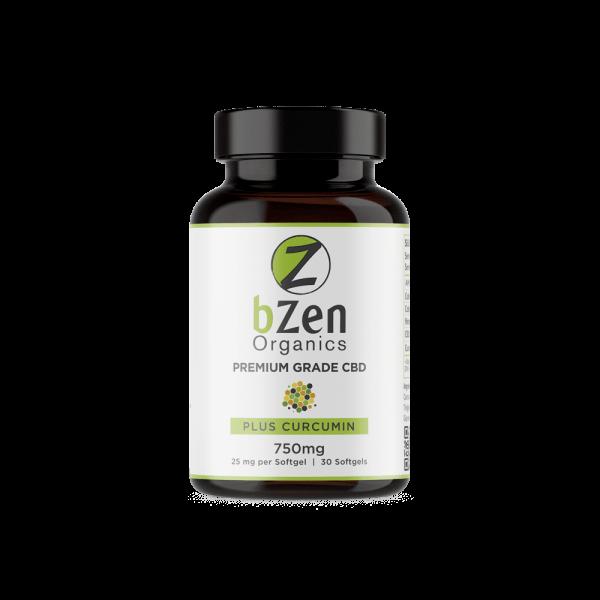 BZen Organics Softgels with Curcumin