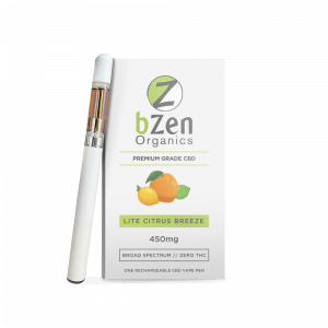 Bzen Organic CBD Vape Pen & Cartridge