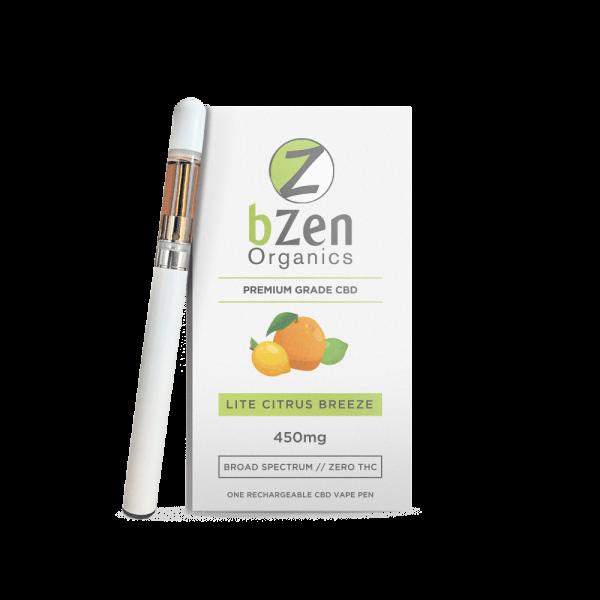 Bzen Organic CBD Vape Pen & Cartridge